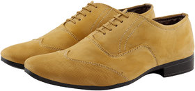 Smoky Men's Tan Lace-up Derby Formal Shoes