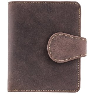 Visconti Hunter Bi-Fold Oil Brown Genuine Leather Wallet For Men & Women With RFID Protection