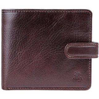 Visconti Tuscany Bi-Fold Brown Genuine Leather Wallet For Men With RFID Protection