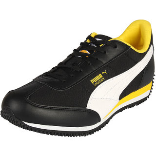 Puma Velocity Tetron Black & Yellow Mens Running Shoes