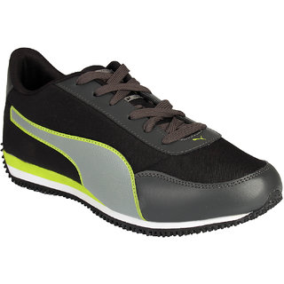 Puma Velocity Tetron Black & Green Mens Running Shoes