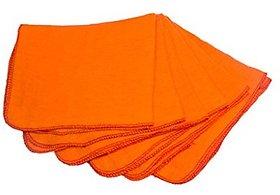 Shop By Room Super Soft Flannel Orange Duster - Set of 5 (Size 22quotx26quot)