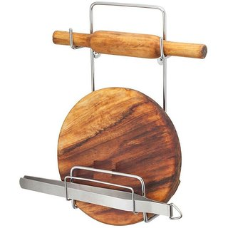 OSE High Quality ( Stainless Steel ) Chakla Belan Stand For Kitchen [Only Belan Stand]