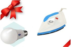 Blue Sapphire Corolla With Led Bulb Free Dry Iron