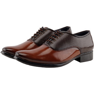 Smoky Men's Brown Lace-up Derby Formal Shoes