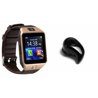 Zemini DZ09 Smart Watch and Kaju Bluetooth Headphone for HTC ONE V(DZ09 Smart Watch With 4G Sim Card, Memory Card| Kaju Bluetooth Headphone)