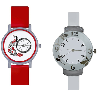 new Best Red More Watch And White Round Watch For Glis