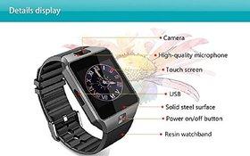 Lionix DZ09 Bluetooth Smart Watch Camera Pedometer Activity Tracker Sedentary Reminder Calendar Remote for Smart Phones