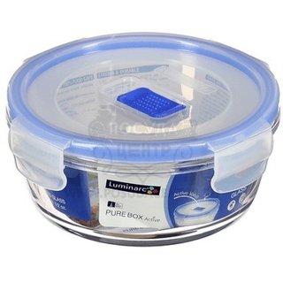 Luminarc Pure Box Round 67 Cl 670 Ml Gl Food Storage Clear