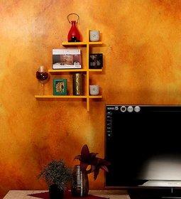 New Look 3 Tier Yellow Shelves
