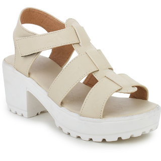 Funku Fashion Women's Beige Wedges
