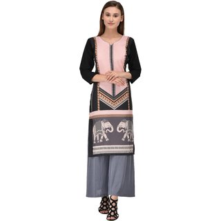 Meia  Multicolor Crepe Kurti for Women5045-S