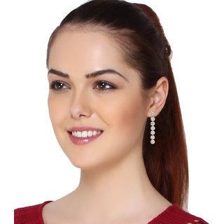 Jewels Gehna Studded Diamond Non-Precious Fancy Hanging Earrings Set For Women  Girls