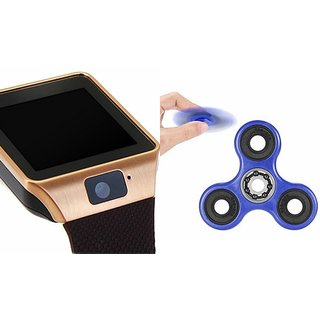 Zemini DZ09 Smart Watch and Fidget Spinner for HTC ONE E9S DUAL SIM(DZ09 Smart Watch With 4G Sim Card, Memory Card| Fidget Spinner)