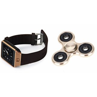 Zemini DZ09 Smart Watch and Fidget Spinner for MICROMAX BOLT A066(DZ09 Smart Watch With 4G Sim Card, Memory Card| Fidget Spinner)