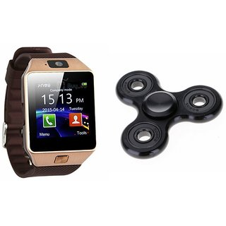 Zemini DZ09 Smart Watch and Fidget Spinner for MICROMAX CANVAS KNIGHT 2(DZ09 Smart Watch With 4G Sim Card, Memory Card| Fidget Spinner)