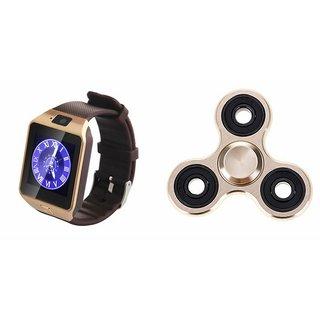 Zemini DZ09 Smart Watch and Fidget Spinner for GIONEE MARATHON M5 LITE(DZ09 Smart Watch With 4G Sim Card, Memory Card| Fidget Spinner)