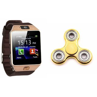 Zemini DZ09 Smart Watch and Fidget Spinner for SAMSUNG GALAXY ACE 4 (DZ09 Smart Watch With 4G Sim Card, Memory Card| Fidget Spinner)