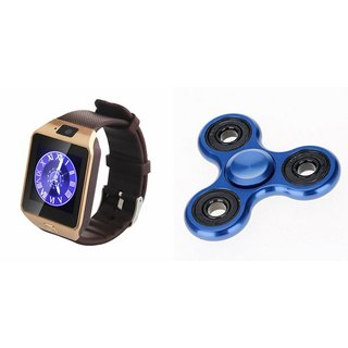Zemini DZ09 Smart Watch and Fidget Spinner for SAMSUNG GALAXY A 7 (DZ09 Smart Watch With 4G Sim Card, Memory Card| Fidget Spinner)
