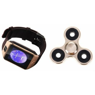 Zemini DZ09 Smart Watch and Fidget Spinner for SAMSUNG GALAXY CORE PRIME VE(DZ09 Smart Watch With 4G Sim Card, Memory Card| Fidget Spinner)