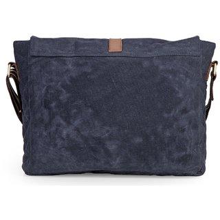 2ca75f167b1 The House Of Tara Distress Finish Crossbody Canvas Messenger Bag (Midnight  Blue) HTMB 066