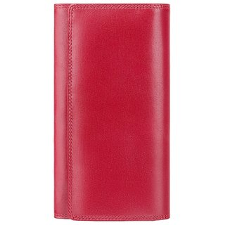 Visconti Florence Bi-Fold Red Genuine Leather Purses For Woman