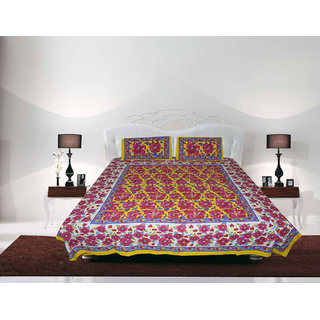 Vihaan Impex Double Cotton Multi Printed Bed Sheet VIDBS8001