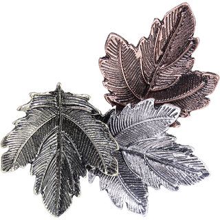 Fasherati  Maple Leaf Gold Silver Plated Pins Exquisite Collar For Girls
