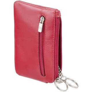 Visconti Geno Red Genuine Leather Coin Purse For Men  Women