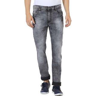 JDC Men's Lightweight Stretch 3D Slim fit Jeans-Light Grey