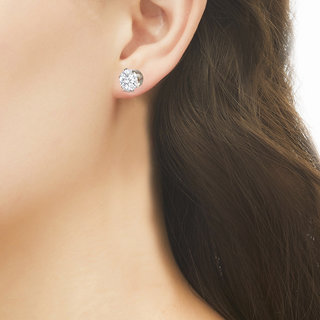 d05a2a9e0 Buy Fasherati Gold plated silver crystal stud Earring for girls ...