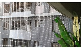 Shop by Room Anti Bird Net 8 X 12 Foot High Quality Nylon Net with Tie-pie Accessories White