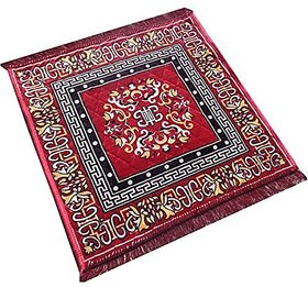 Shop By Room Floral prited Soft Puja Aasan/Mat - 20 inch x 20 Inch (Set of 2)
