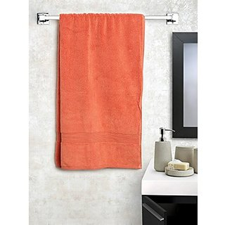 Shop By Room Premium Quality 450 Gsm Bath Towel For Kids- Carrot red