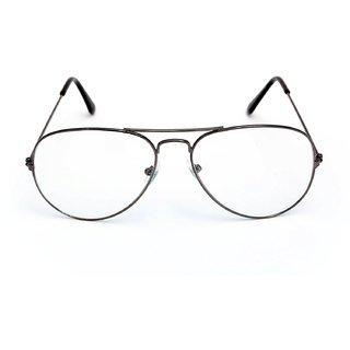 525f504fbc6 David Martin HD Clear Lens Gunmetal Frame UV Protected Aviator Style  Sunglasses Eyeglasses For Men Women.