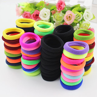 Mix Color Hair Accessories Hair Holders Rubber Bands Colorful Hair Elastics Accessories Women 20Pc