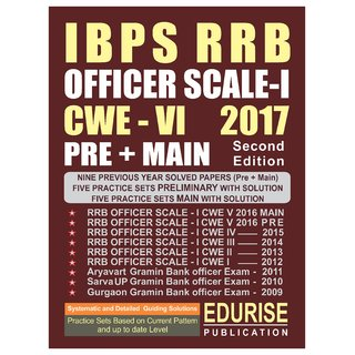IBPS RRB OFFICER SCALE 1 CWE 6 2017 PRELIMINARY + MAIN Previous Year Solved Papers (2009 to 2016) Practice Sets with Sol