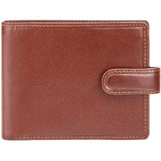 Visconti Rome Bi-Fold Brown Genuine Leather Wallet For Men With RFID