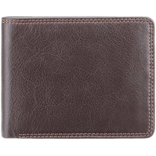 Visconti Stamford Bi-Fold Brown Genuine Leather Wallet For Men