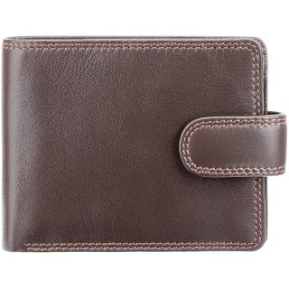 Visconti Knights bridge Bi-Fold Brown Genuine Leather Wallet For Men
