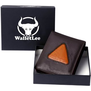 WalletLee Men Brown, Tan Genuine Leather Wallet (7 Card Slots)