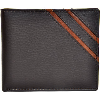 Chandair Pure Leather Dark Brown Men's Wallet (WL-009BrownStrip)