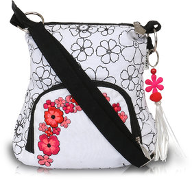 White Sling With Red Embroidery