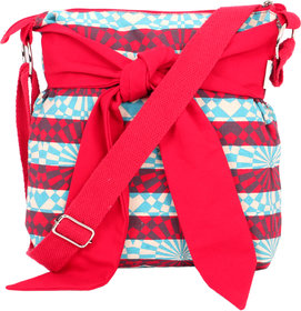 Sling Bags-red And Blue Canvas Bag