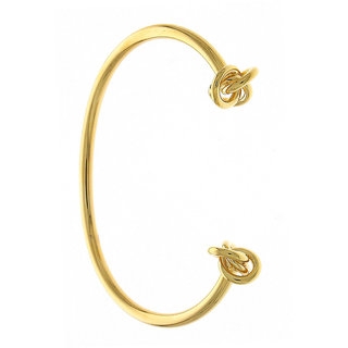 Anuradha Art Golden Finish Simple Stylish Classy Party Wear Korean Metal Kada Hand Bracelet For Women/Girls