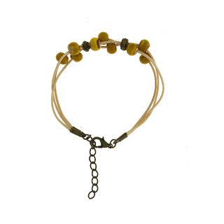 Anuradha Art Simple Stylish Yellow Colour Crystal/Nature Beads Bracelet For Women/Girls