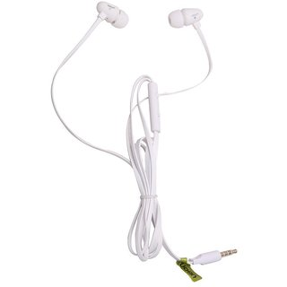 Classic White color Ear Headphones (Earphones/Earbuds/Headset) Withsupport of Apple Ios And Android For HTC Inspire 4G (White)