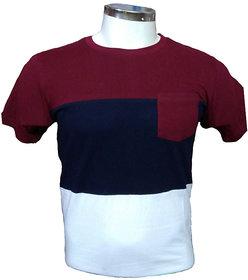 Zoxxy Men's Multi color Round Neck T-shirt