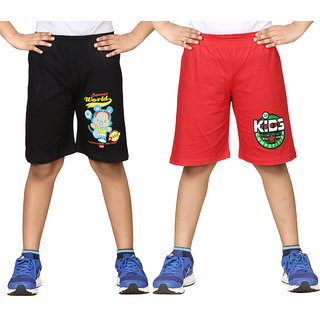 Dongli Short For Boys (Black, 10 - 11 Years, Pack Of 2)