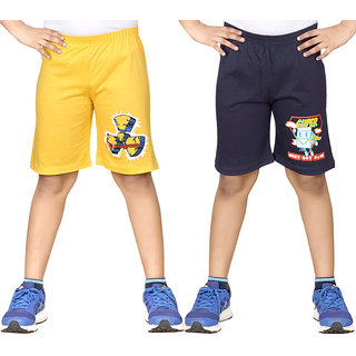 Dongli Short For Boys (Dark Blue, 10 - 11 Years, Pack Of 2)